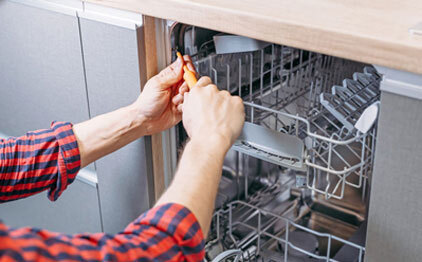 Our Expert technicians are available for Dishwasher repair 24/7 .
